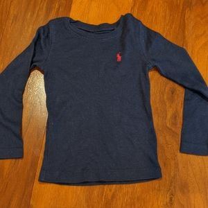 Navy Ralph Lauren long sleeved shirt
